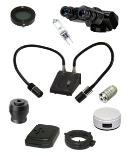 Microscope accessories and parts